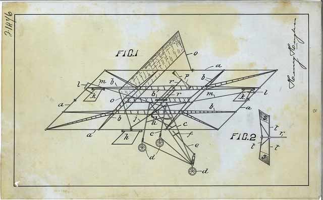 Richard Pearse Patent Drawing1906
