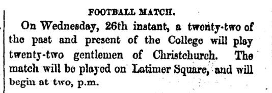 Football match advertisement