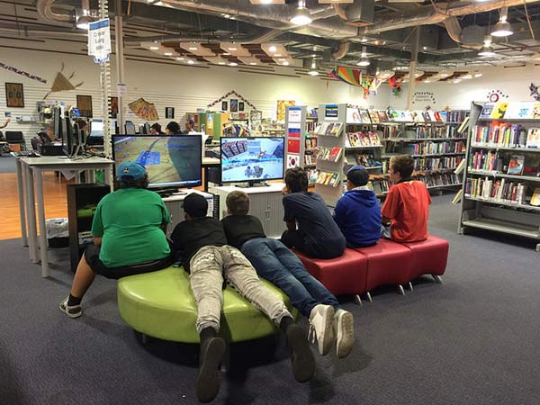 Video games at Linwood Library