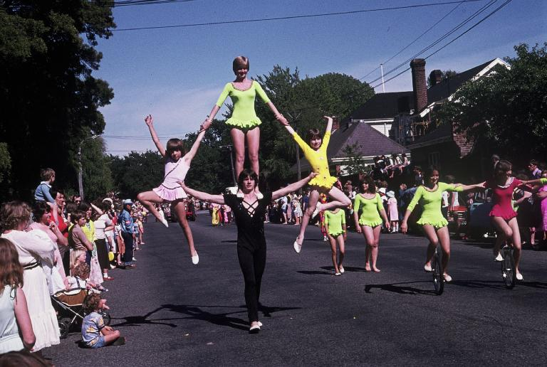 Acrobats. Hay's Christmas parade. Archive 812. CCL Img ARCH812-13