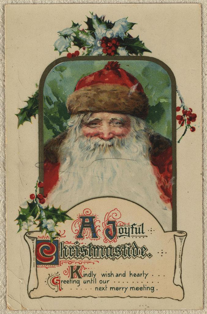 A joyful Christmastide, Postcard album, ca.1906-1926. Ruth Crump. CCL-Arch345-089A