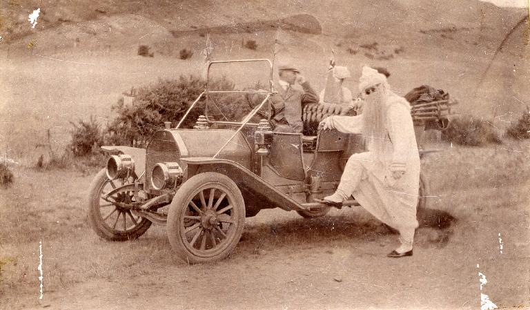 Father Christmas visits Heathcote Valley School. Gimblett Collection. CCL- Gimblett-0011