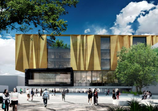 Canterbury landscape inspires new central library design for Canterbury landscape design