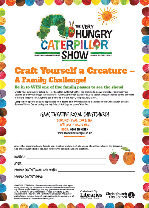 The Very Hungry Caterpillar entry form