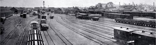 The railway yard and station, west of the Madras Street bridge [1900] CCL PhotoCD 3, IMG0068