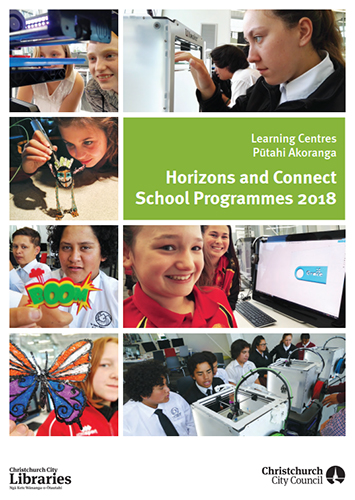 Download the 2018 Horizons and Connect School Programme brochure [5MB]