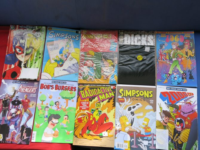 My Free Comic Book Day comics from 2018, plus purchases from Comics Compulsion.