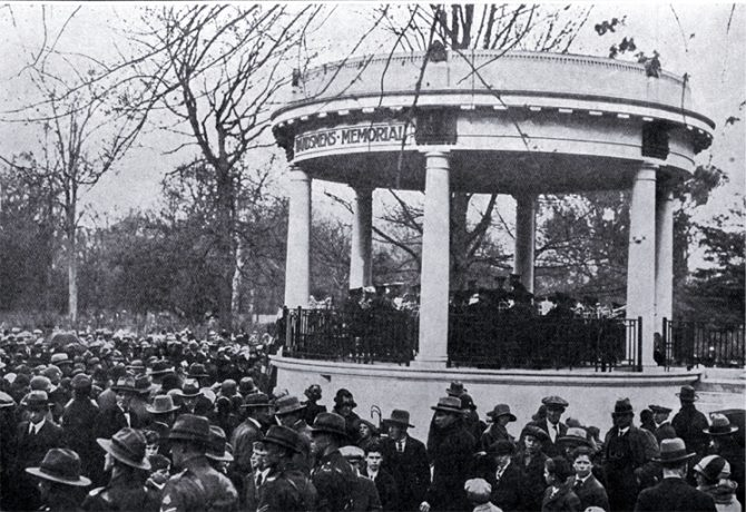 The opening of the Bandsmens Memorial rotunda, Botanic Gardens, Christchurch [19 September 1926] CCL PhotoCD 8, IMG0068