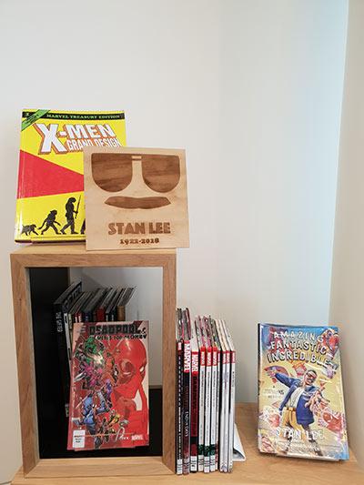 Photo of Stan Lee display at Tūranga