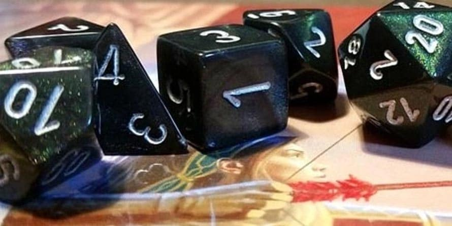 DandD-dice Dungeons and dragons